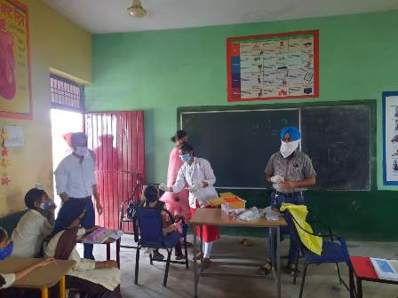 Around 1600 persons were vaccinated against Corona Epidemic in the villages of PHC Kiratpur Sahib